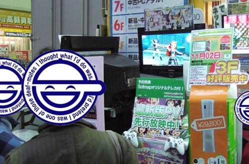 XBOX360版アイドルマスター アキバ各店で店頭デモ中