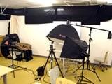 ブースの横にはこんな感じで写真撮影を行うスタジオ