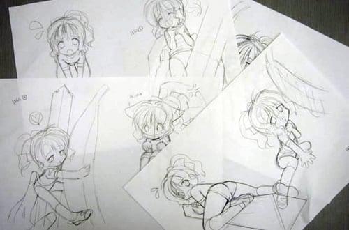ぷれい☆ステーショナリー2 取扱説明書用ラフイラスト