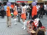 秋葉原駅前のでちゃう!配布は男性スタッフと女性が来ていた